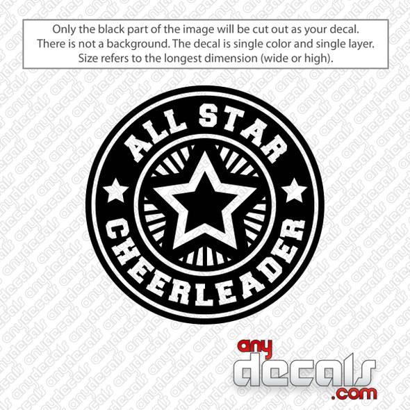 All Star Cheerleader Decal Sticker