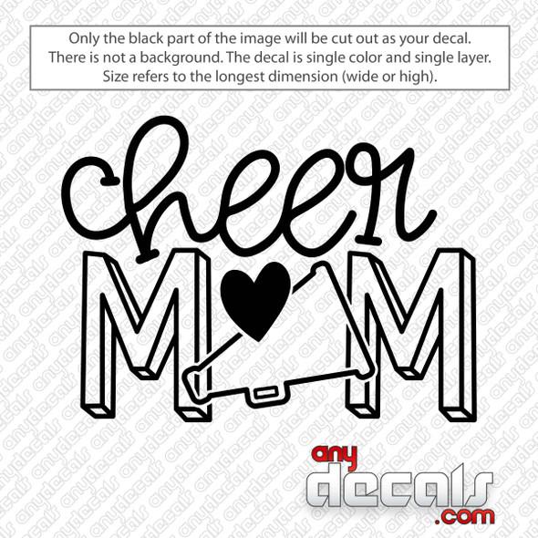 Cheer Mom Megaphone Decal Sticker