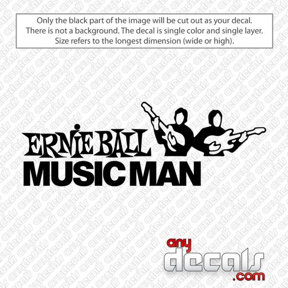 Ernie Ball Music Man Decal Sticker