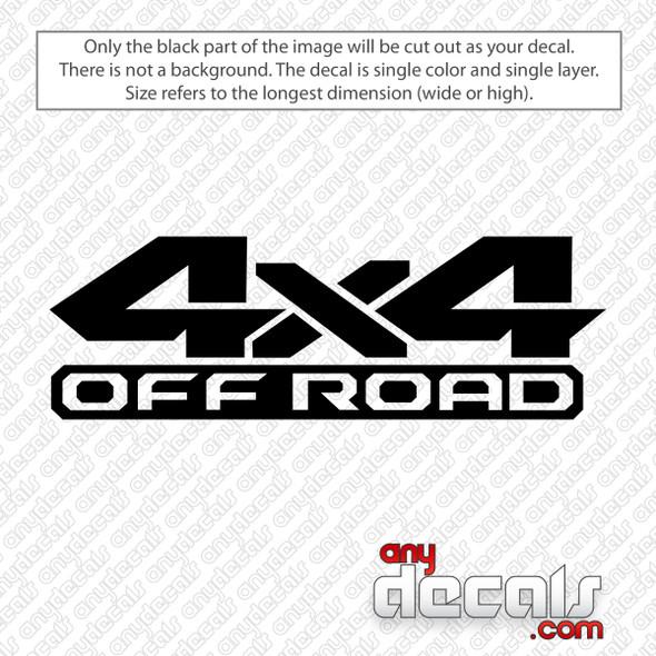 Dodge Ram 4x4 Off Road Decal Sticker