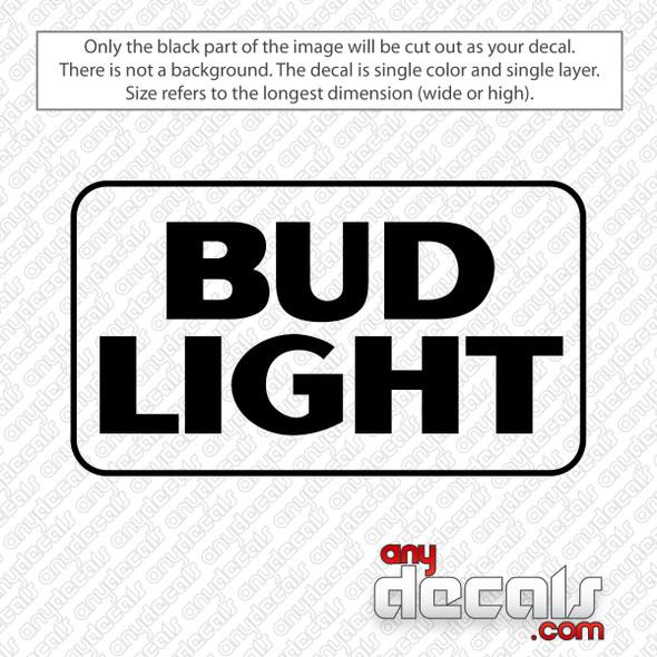 Bud Light Beer Logo Decal Sticker