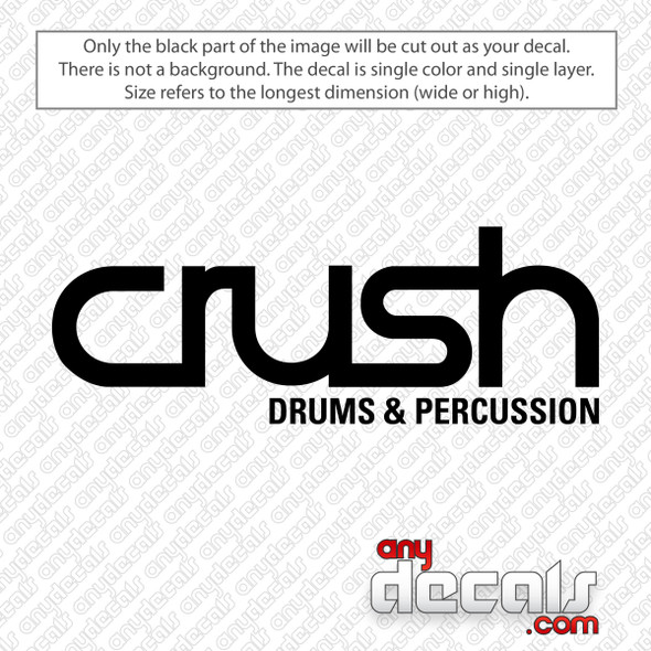 Crush Drums and Percussion Logo Decal Sticker