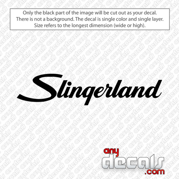 Slingerland Logo Decal Sticker