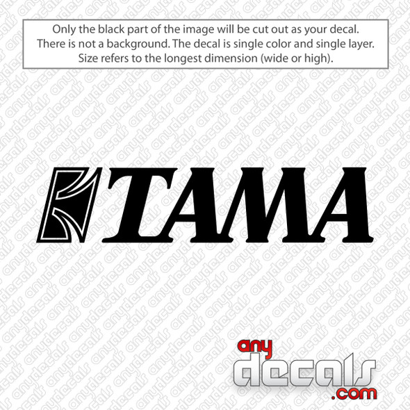 Tama Logo Bass Drum Decal Sticker