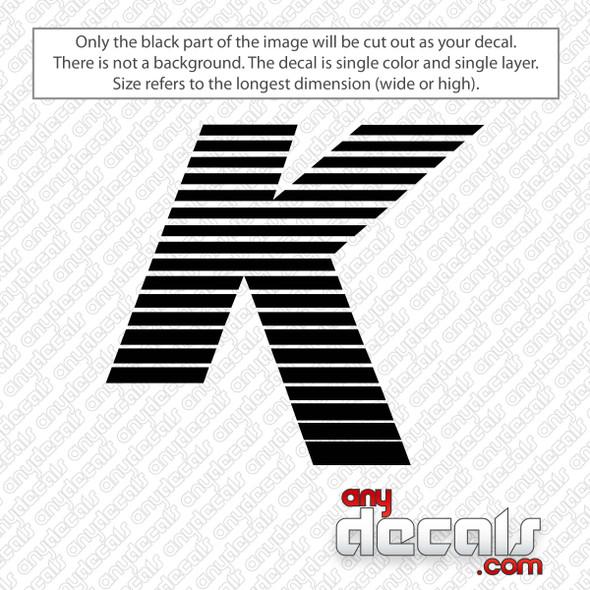 Zildjian K Logo Bass Drum Decal Sticker