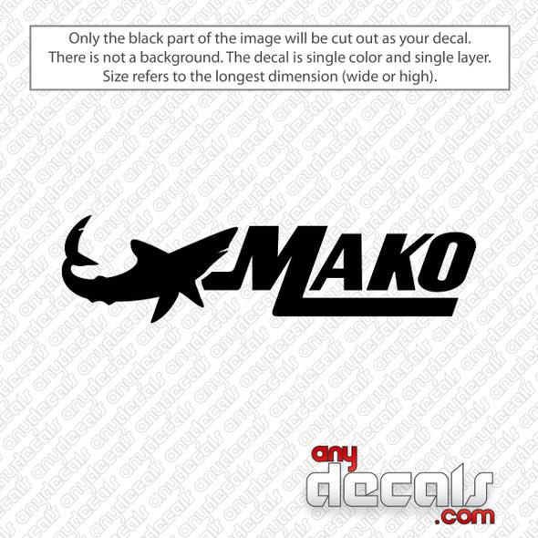 Mako Boats Logo Decal Sticker