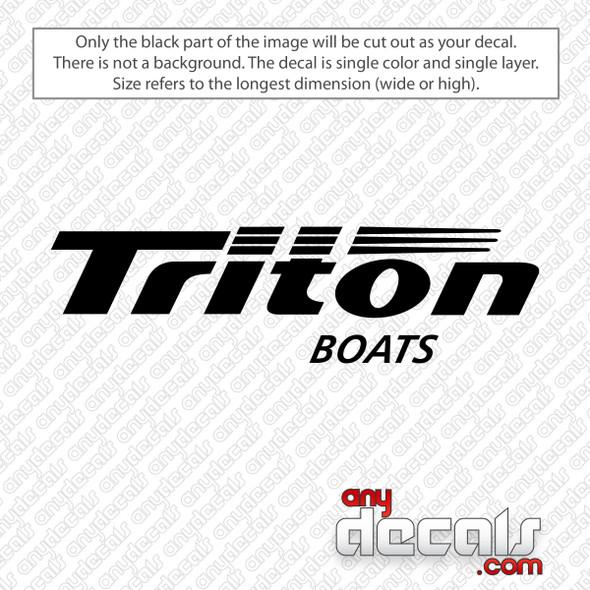 Triton Boats Logo Decal Sticker
