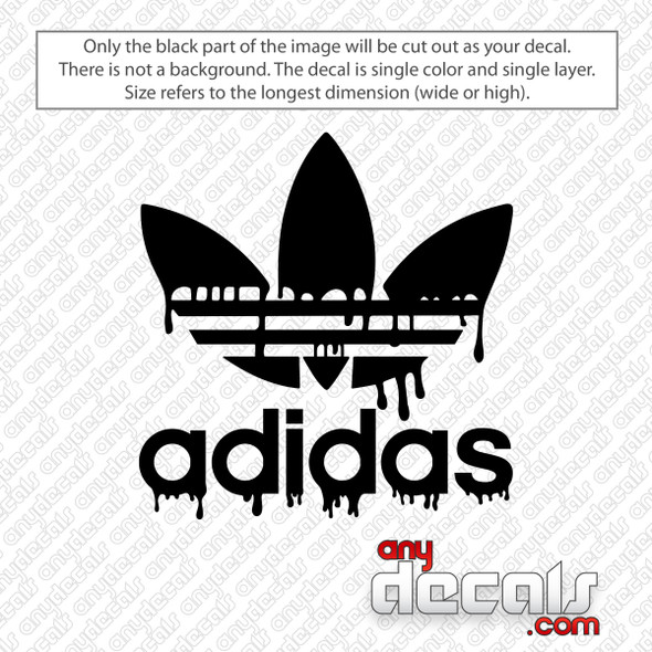 Adidas Drip Logo with Text Decal Sticker