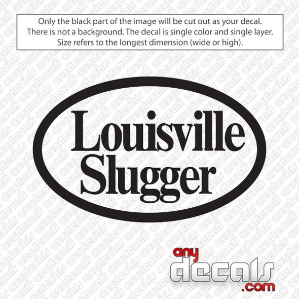 Louisville Slugger Retro Logo Decal Sticker