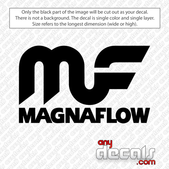 Magnaflow Logo With Text Decal Sticker