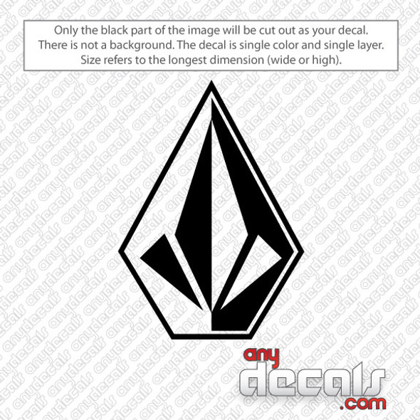 surf decals, skate decals, surf stickers, skate stickers, volcom stone car decals