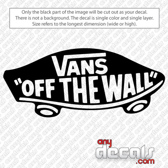 surf decals, skate decals, surf stickers, skate stickers, vans car decals, car decals, car stickers, decals for cars, stickers for cars