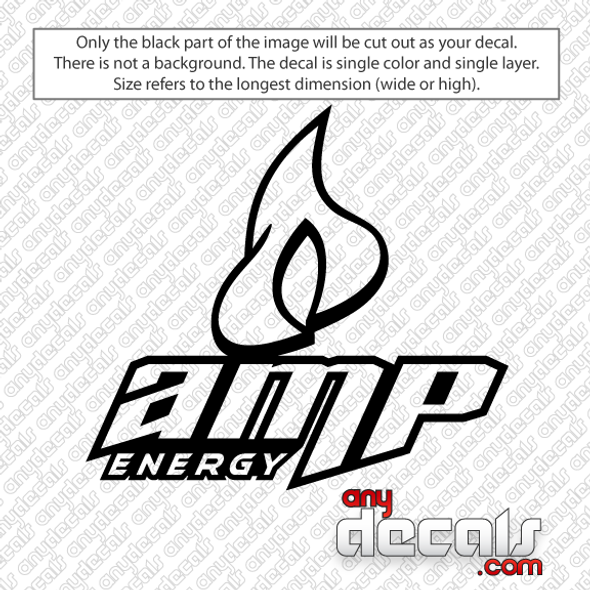 AMP car decals, energy drink car decals