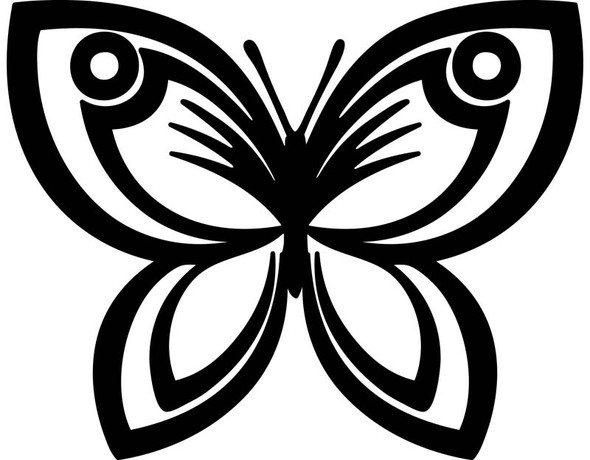 Butterfly Car Decal 20