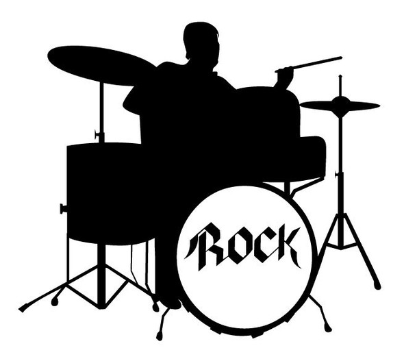 Rock Drummer Car Decal