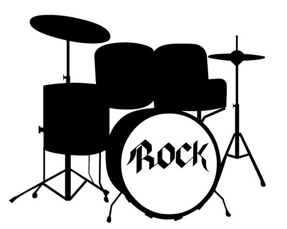Rock Drumset Car Decal