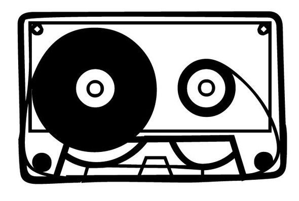 Cassette Rock Car Decal