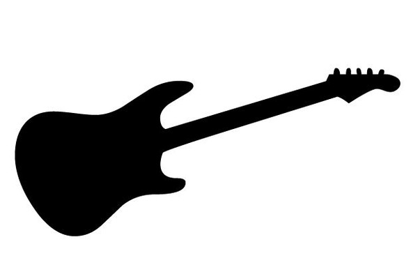 Rocker Guitar Car Decal