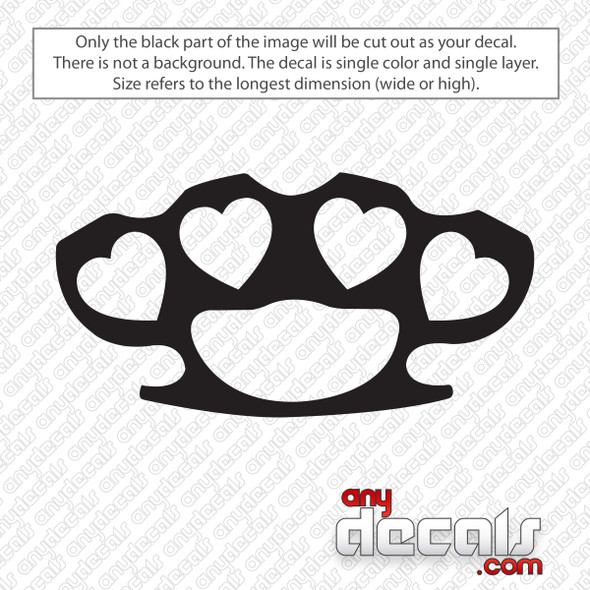 Girl Heat Brass Knuckles Decal Sticker