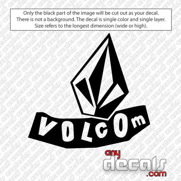 surf decals, skate decals, surf stickers, skate stickers, volcom stone car decals, car decals, car stickers, decals for cars, stickers for cars