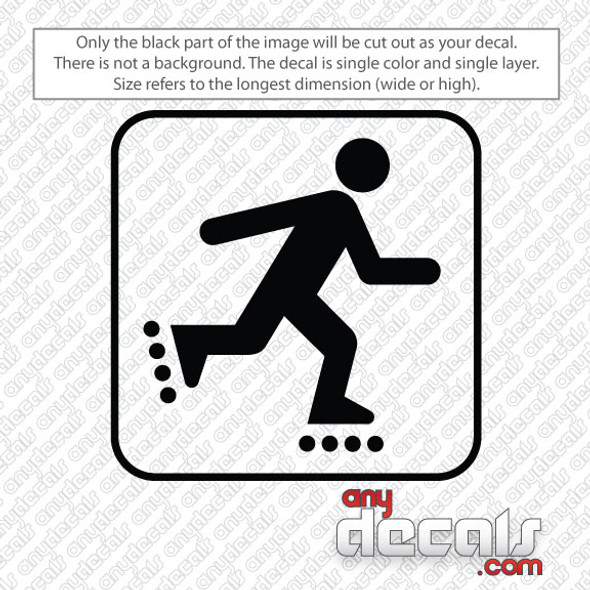 roller blading symbol car decals and stickers