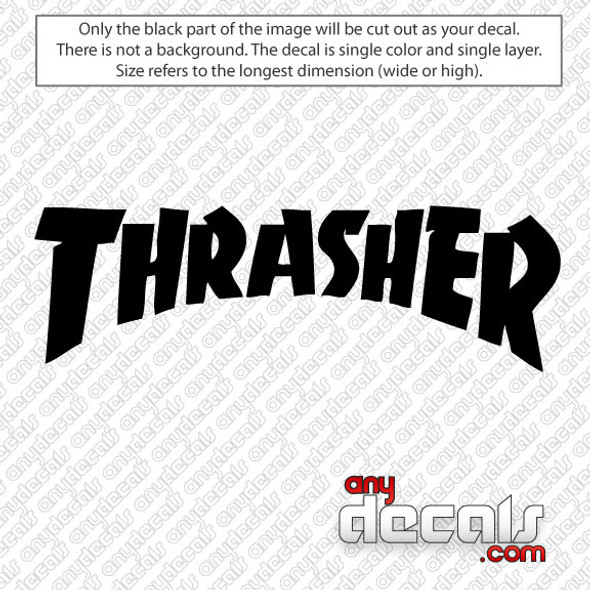 Thrasher Logo Style Skateboard Logo Car Decal, surf decals, skate decals, surf stickers, skate stickers,skate car decals, car decals, car stickers, decals for cars, stickers for cars