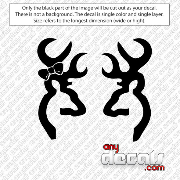Browning Deer Couple Car Decal