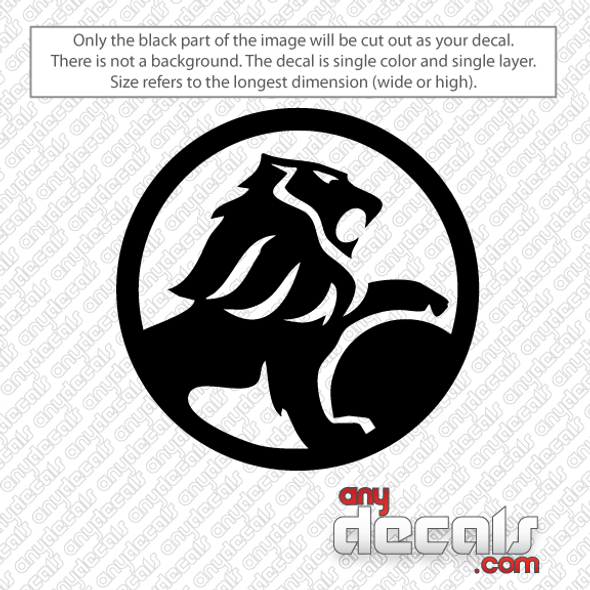 Holden Lion Circled Inverted Car Decal