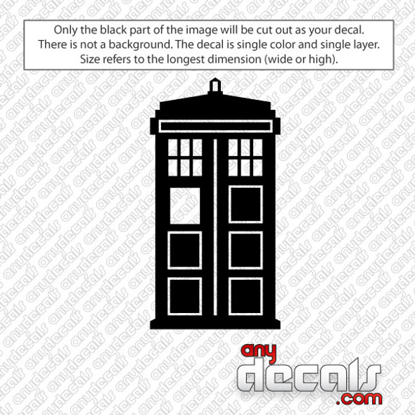 Dr Who Tardis Car Decal