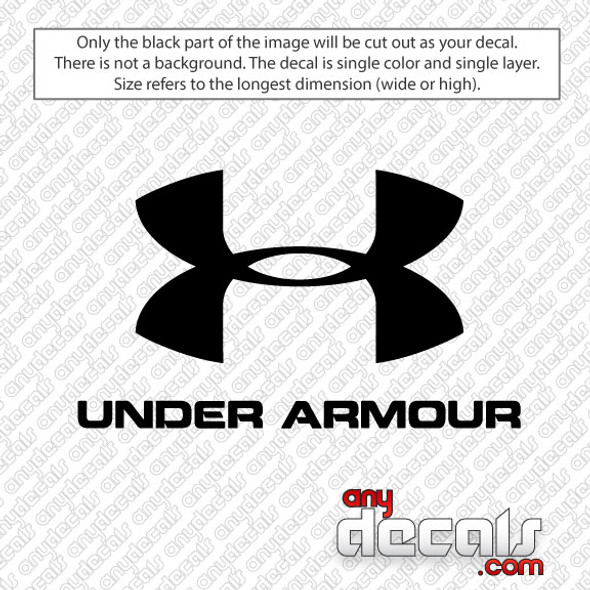 Under Armour Car Decal