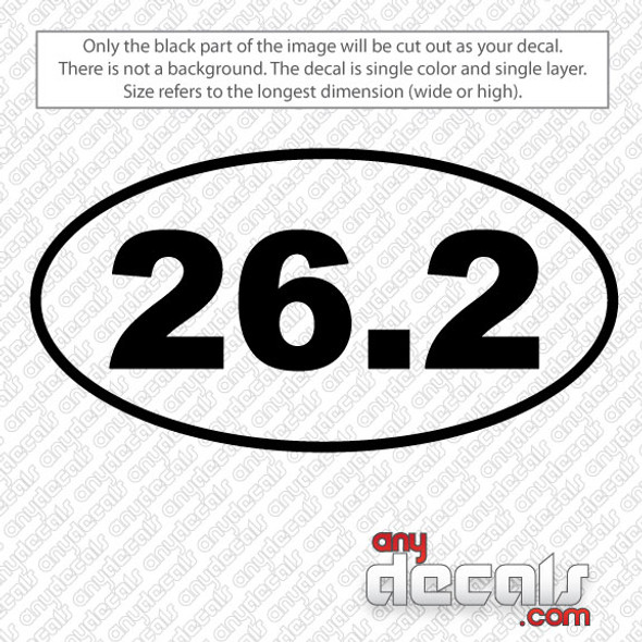 26.2 Marathon car sticker