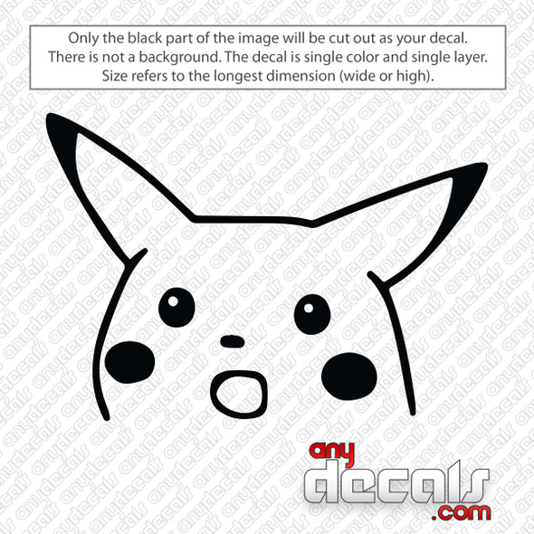 Surprised Pikachu Meme Decal Sticker