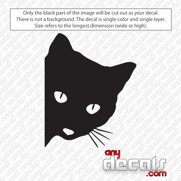 Peeking Cat Decal Sticker