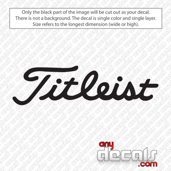 Titleist Logo Golf Decal Sticker