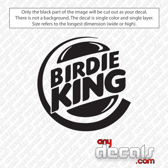 Golf Birdie King Decal Sticker