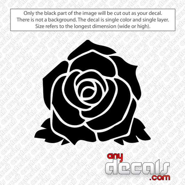 Rose Flower Decal Sticker