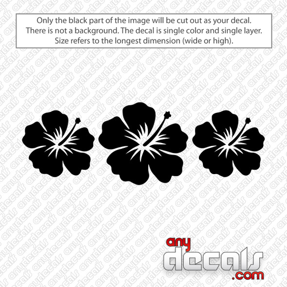 Three Hibiscus Flowers Decal Sticker