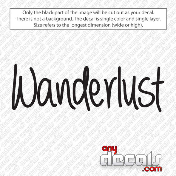 Wanderlust Decal Sticker