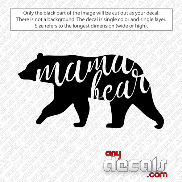 Mama Bear Decal Sticker
