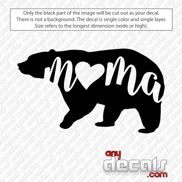 Mama Bear Decal Sticker