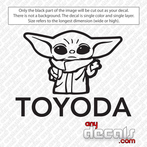 Star Wars Baby Yoda Toyoda Decal Sticker