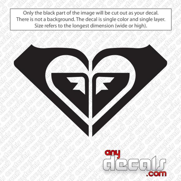 Roxy Heart Logo Decal Sticker