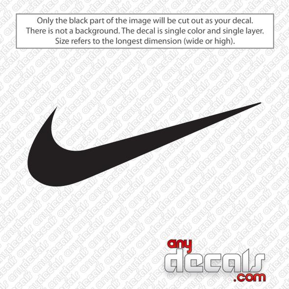 Nike Swoosh Logo Decal Sticker