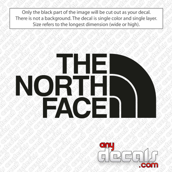 The North Face Logo Decal Sticker