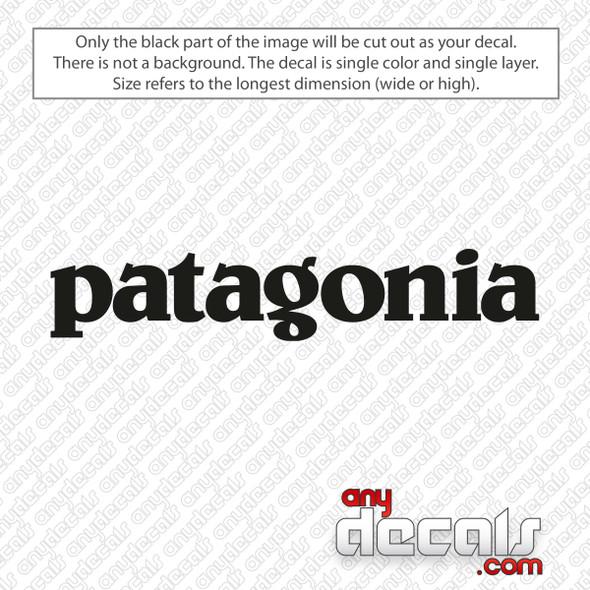 Patagonia Logo Decal Sticker