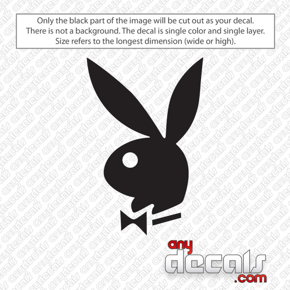 Playboy Bunny Logo decal Sticker