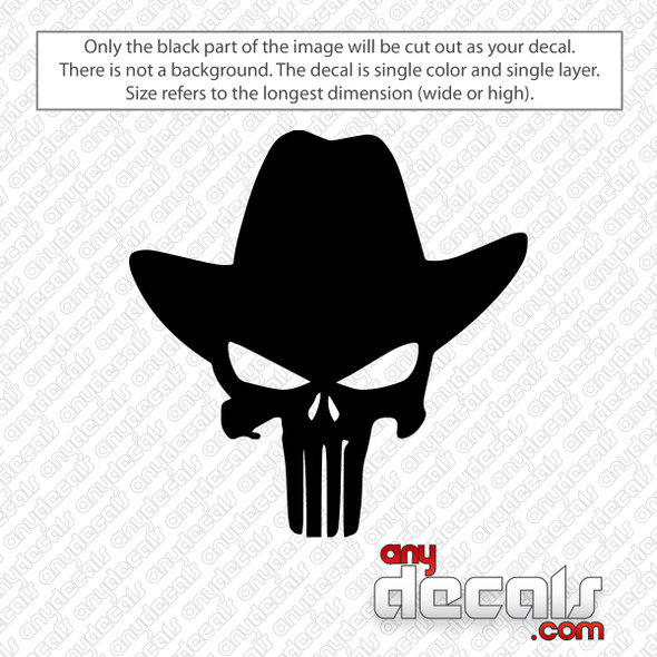 Cowboy Punisher Decal Sticker