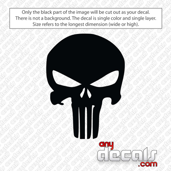 Punisher Skull Decal Sticker