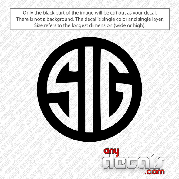 SIG Logo Decal Sticker