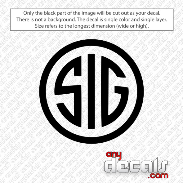 Sig Circle Logo Decal Sticker